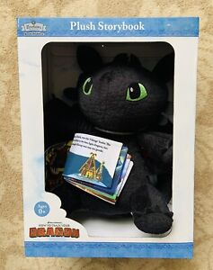Dreamworks How to Train your Dragon Toothless Plush Storybook - Brand New