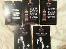 Frank Sinatra /Jack Daniels  set of 5 double sided. Ny, Ny 5 by 7 size