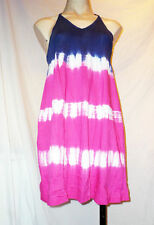Cotton Striped Sleeveless Dresses Midi for Women
