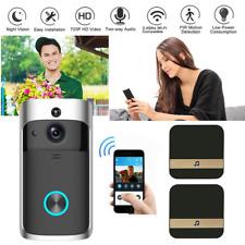 HD Wireless Smart WiFi Doorbell Camera IR Video Phone Intercom + Ding Dong Bell