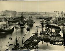 ND. Phot. France, Port Militaire de Brest, Sortie du Cuirassé Retirage de 1950,