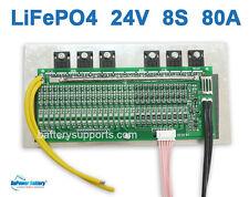 24V 25.6V 80A LiFePo4 Battery BMS LFP PCM SMT System 8S 3.2V eBike Battery 8x 3V