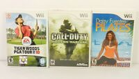3X Wii Games COD Modern Warfare Reflex Fuentes Pilates Tiger Woods PGA Tour 10