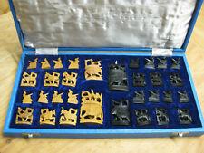 Schachfiguren aus Indien handgeschnitzt, edel aus Holz