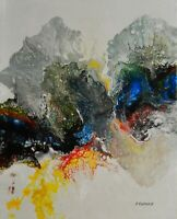 """Original Acrylic Painting. Abstract Art on Canvas. Lava 2 by Hunoz 16"""" x 20"""""""