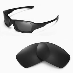 New Walleva Black Replacement Lenses For Oakley Fives Squared Sunglasses