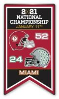 "2021 ALABAMA CRIMSOM TIDE CFP COLLEGE NATIONAL CHAMPIONSHIP GAME ""SCORE"" PIN"