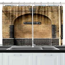"Famous London Brick Wall Decor Kitchen Curtain Window Drapes 2 Panels Set 55*39"""