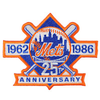 1986 New York Mets 25th Anniversary Logo Mlb Jersey Sleeve Emblem Patch