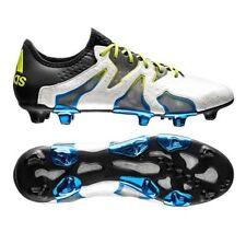 New Men adidas  X 15 + SL FG/AG Soccer Cleats Sz 10.5  White Black Blue AF4693
