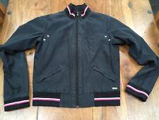 PINEAPPLE Black Coat Jacket Biker Baseball Bomber Rockabilly Mod Scooter Retro 8
