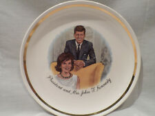 PRESIDENT AND MRS. JOHN F. KENNEDY  COLLECTABLE PLATE