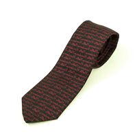 EUC Alynn Creative Expressions Burgundy Black 54 inch Tie