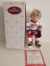 Ashton Drake Galleries He Shoots.He Scores Porcelain Hockey Player Child