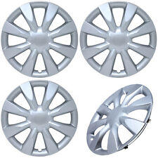 """4PC Universal HubCaps Silver 15"""" Inch STEEL CLIP Wheel Cover Hub Caps Covers Cap"""