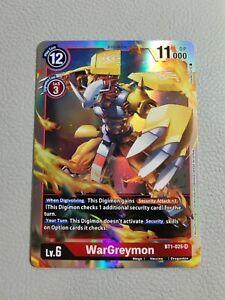 WarGreymon | NM/M | BT1-025 SR | Digimon CCG