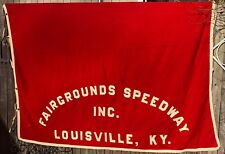 1952 Fairgrounds Speedway Louisville Kentucky Harness Race Derby Blanket Jockey