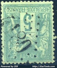FRANCE TYPE SAGE N°75 BELLE OBLITERATION JOUR DE L'AN GC N° 4180