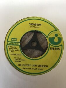 "Electric light orchestra - Showdown.   used  7"" Single record"