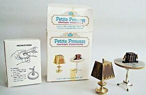 Petite Princess Dollhouse Fantasy Furniture Heirloom Table Set 1964 IDEAL OB