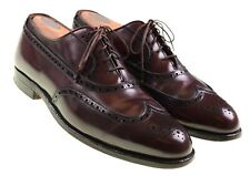 Alden 929 Burgundy Maroon Leather Wingtip Brogue Oxford Dress Shoes 8 A/C