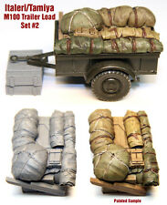 1/35 Scale Resin kit M100 Tamiya / Italeri WW2 Jeep Trailer Load #2 stowage
