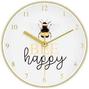New Beautiful Bumble Bee Happy Clock A Fun Gift And Uplifting Accessory N-21