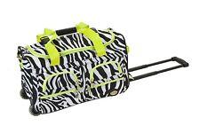 Boys Girls Week Travel Luggage Bag With Wheels 22 Inch Duffel Trolley Suitcase
