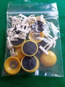 Subbuteo/Santiago. Paint-your-own Type 2 Team. Yellow / Black. (White T2).