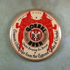 "Vintage Style Beer Advertising Sign Fridge Magnet 2 1/4"" Goebel Beer Detroit"