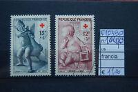 FRANCOBOLLI FRANCIA USATI N°1048/49 (F10390)