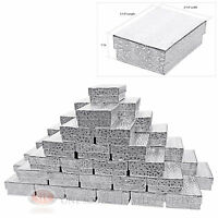 """50 Cotton Filled Cardboard Jewelry Gift Boxes Paper 3 1/4"""" x 2 1/4"""" x 1""""H"""