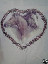 XXL T shirt Heart 2 Horse Heads in the Middle New Love Connection Hugs Lady girl
