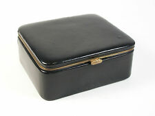 Mid Century Kid Leather Jewelry Box/Organizer - West Germany - Circa 1960's