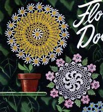 Doily Crochet Patterns Passion Flower Pansy Daisy Irish Rose Lily Violet