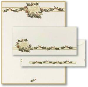 Vintage Christmas Holly Letterhead & Envelopes - 40 Sets - 2011872-40 NEW!