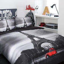New Paris So Chic Eiffel Tower Red Citroen 2CV KING Quilt / Doona Cover Set
