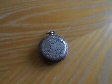 Antique. Fine Silver Hunter Ladies Pocket Watch Spares/ Repair £20 free UK post