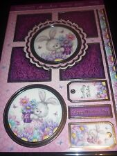 HUNKYDORY ADORABLE SCORABLE SOME BUNNY I LOVE TOPPERS A4 CARDS INSERTS ENVELOPES