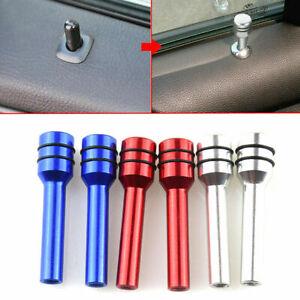 2x Aluminum Car Interior Door Locking Lock Knob Pull Pins Cover Universal Parts