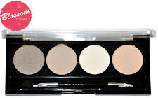 W7 NAKED NUDES 4 Eyeshadow Palette (Nudes/Browns/Creams) Natural Shades NEW!