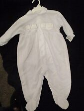 bright future white one piece outfit with feet. 12 mo NEW