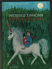Irmelin Sandman Lilius: bianca UNICORNO ROSSA CORALLO, 1965 bambini libro legato