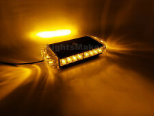 12 in Amber LED Warning Emergency Beacon Strobe Rooftop Mini Lightbar 22W Yellow