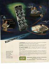 1950 IBM Electronic Counter computer art Vintage Ad