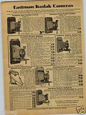 1931 PAPER AD 2 PG Eastman Kodak Folding Cameras Hawkeye Special Box