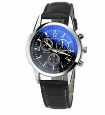 Faux Leather Band Stainless Steel Case Luxury Watches