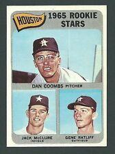 Dan Coombs  Jack McClure  Gene Ratliff 1965 Topps Astros Rookie Stars Card #553