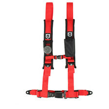 "Pro Armor Seat Belt Harness 4 Point 2"" Red Automotive Latch Honda Pioneer Talon"