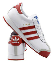 New ADIDAS Originals Samoa classic Athletic Sneaker leather Mens white all sizes